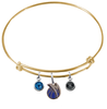 Dallas Mavericks GOLD Color Edition Expandable Wire Bangle Charm Bracelet