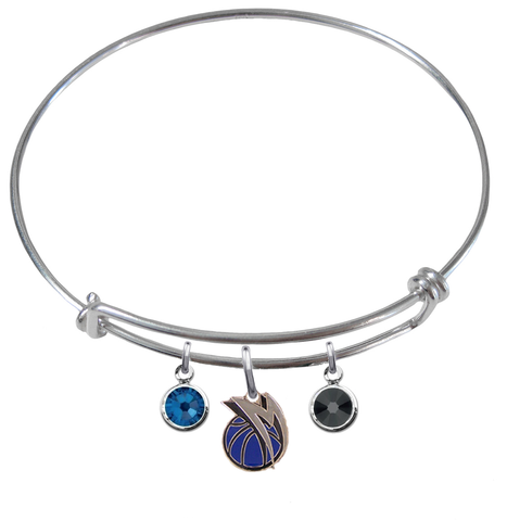 Dallas Mavericks NBA Expandable Wire Bangle Charm Bracelet