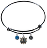Dallas Mavericks Style 2 BLACK Color Edition Expandable Wire Bangle Charm Bracelet