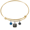 Dallas Mavericks Style 2 GOLD Color Edition Expandable Wire Bangle Charm Bracelet