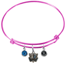 Dallas Mavericks Style 2 PINK Color Edition Expandable Wire Bangle Charm Bracelet