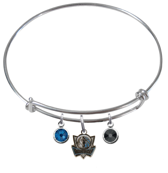 Dallas Mavericks Style 2 NBA Expandable Wire Bangle Charm Bracelet
