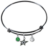 Dallas Stars Color Edition BLACK Expandable Wire Bangle Charm Bracelet