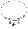 Dallas Stars NHL Expandable Wire Bangle Charm Bracelet