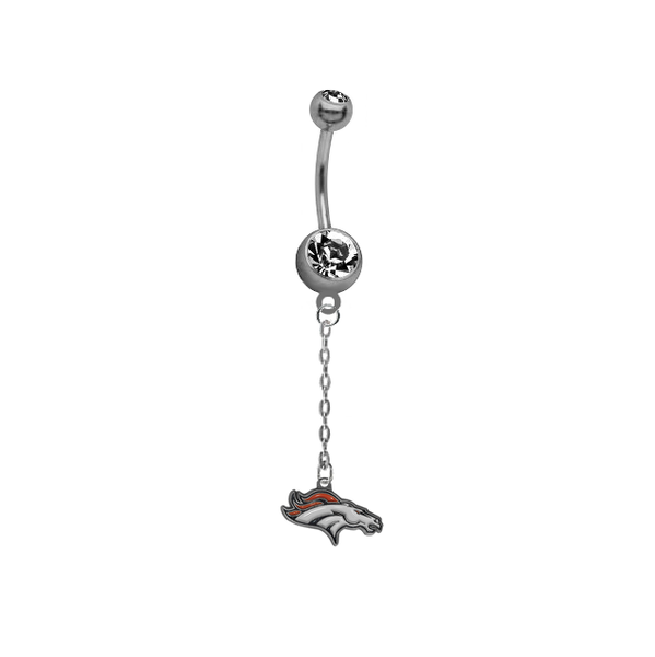 Denver Broncos Chain NFL Football Belly Button Navel Ring
