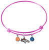 Denver Broncos Pink NFL Expandable Wire Bangle Charm Bracelet