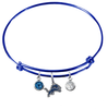 Detroit Lions Blue NFL Expandable Wire Bangle Charm Bracelet