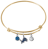 Detroit Lions Gold NFL Expandable Wire Bangle Charm Bracelet