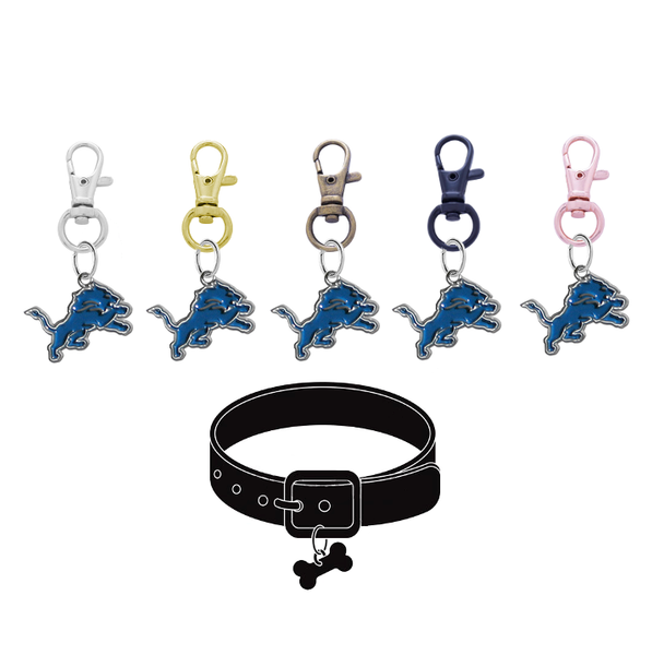 Detroit Lions NFL Pet Tag Dog Cat Collar Charm