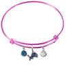 Detroit Lions Pink NFL Expandable Wire Bangle Charm Bracelet