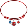 Detroit Pistons RED Color Edition Expandable Wire Bangle Charm Bracelet