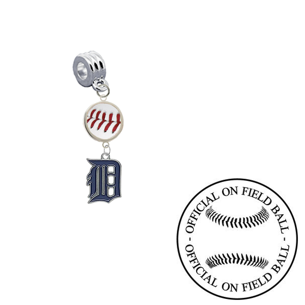 Detroit Tigers On Field Baseball Universal European Bracelet Charm (Pandora Compatible)