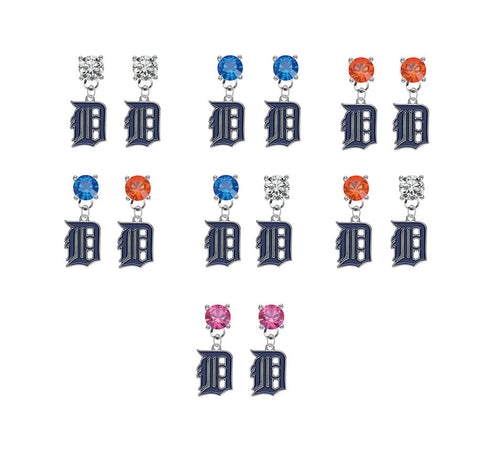 Detroit Tigers MLB Swarovski Baseball Crystal Stud Rhinestone Earrings