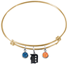 Detroit Tigers Gold MLB Expandable Wire Bangle Charm Bracelet
