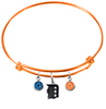 Detroit Tigers Orange MLB Expandable Wire Bangle Charm Bracelet