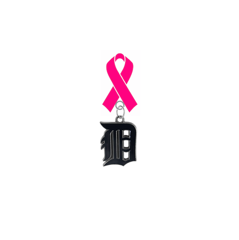 Detroit Tigers MLB Breast Cancer Awareness / Mothers Day Pink Ribbon Lapel Pin
