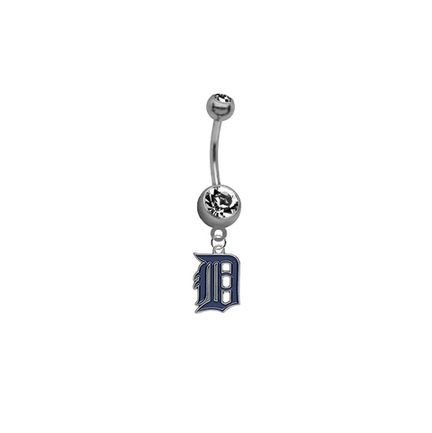 Detroit Tigers MLB Baseball Belly Button Navel Ring