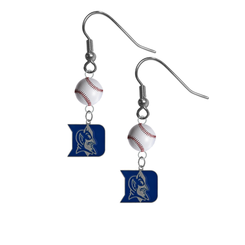 Duke Blue Devils NCAA Baseball Dangle Earrings