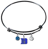 Duke Blue Devils Black Expandable Wire Bangle Charm Bracelet