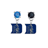 Duke Blue Devils BLUE & BLACK Swarovski Crystal Stud Rhinestone Earrings