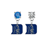 Duke Blue Devils BLUE & CLEAR Swarovski Crystal Stud Rhinestone Earrings