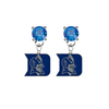 Duke Blue Devils BLUE Swarovski Crystal Stud Rhinestone Earrings