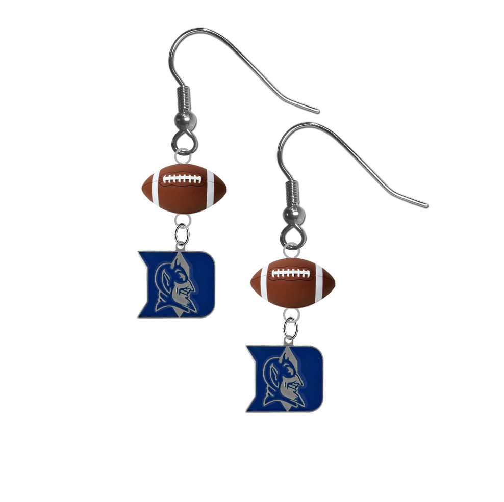 Duke Blue Devils NCAA Football Dangle Earrings