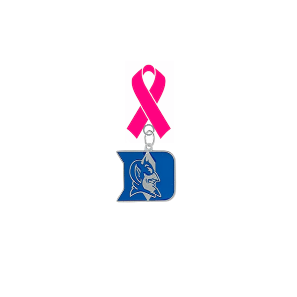 Duke Blue Devils Breast Cancer Awareness / Mothers Day Pink Ribbon Lapel Pin