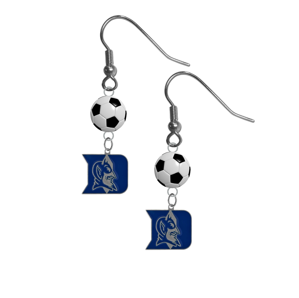 Duke Blue Devils NCAA Soccer Dangle Earrings