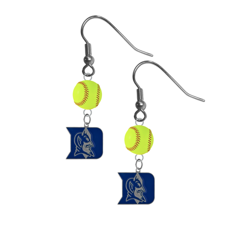Duke Blue Devils NCAA Fastpitch Softball Dangle Earrings