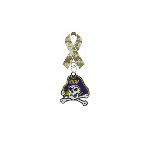 East Carolina Pirates Salute to Service Military Appreciation Camo Ribbon Lapel Pin