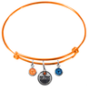 Edmonton Oilers Color Edition ORANGE Expandable Wire Bangle Charm Bracelet