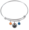 Edmonton Oilers NHL Expandable Wire Bangle Charm Bracelet