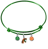 Florida A&M Rattlers GREEN Expandable Wire Bangle Charm Bracelet