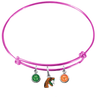 Florida A&M Rattlers PINK Expandable Wire Bangle Charm Bracelet
