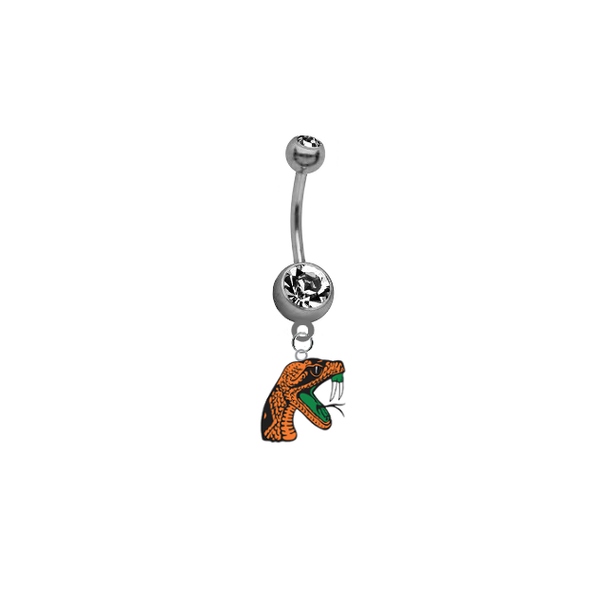 Florida A&M Rattlers NCAA College Belly Button Navel Ring