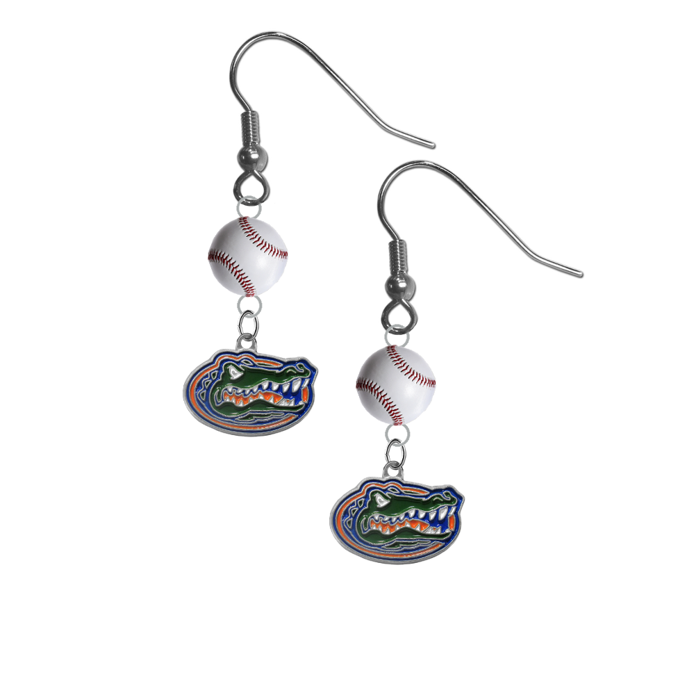 Florida Gators NCAA Baseball Softball Dangle Earrings