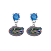 Florida Gators BLUE Swarovski Crystal Stud Rhinestone Earrings