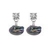 Florida Gators CLEAR Swarovski Crystal Stud Rhinestone Earrings