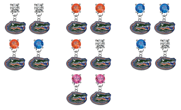 Florida Gators NCAA Swarovski Crystal Stud Rhinestone Earrings