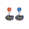 Florida Gators ORANGE & BLUE Swarovski Crystal Stud Rhinestone Earrings