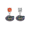 Florida Gators ORANGE & CLEAR Swarovski Crystal Stud Rhinestone Earrings