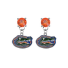 Florida Gators ORANGE Swarovski Crystal Stud Rhinestone Earrings
