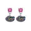 Florida Gators Pink Swarovski Crystal Stud Rhinestone Earrings