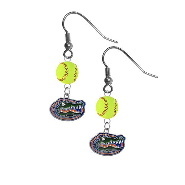 Florida Gators NCAA Fastpitch Softball Dangle Earrings