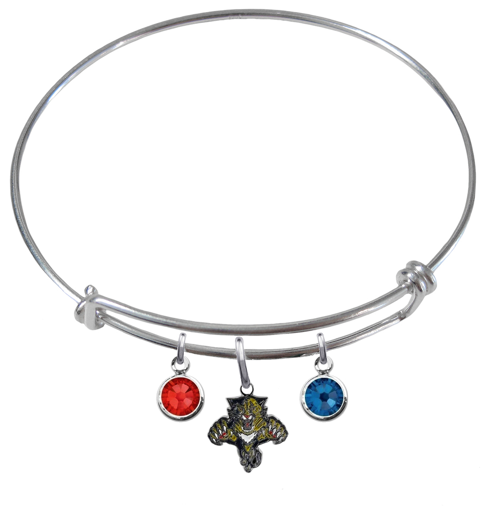 Florida Panthers NHL Expandable Wire Bangle Charm Bracelet