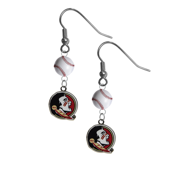 Florida State Seminoles FSU NCAA Baseball Dangle Earrings