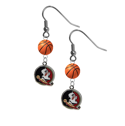 Florida State Seminoles FSU NCAA Basketball Dangle Earrings