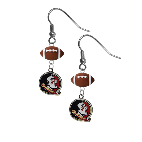 Florida State Seminoles FSU NCAA Football Dangle Earrings