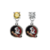 Florida State Seminoles GOLD & CLEAR Swarovski Crystal Stud Rhinestone Earrings